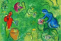 Marc Chagall Berry Harvest from Daphnis and Chloe