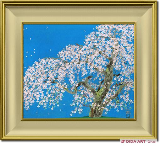 中島千波「荒巻の枝垂桜」