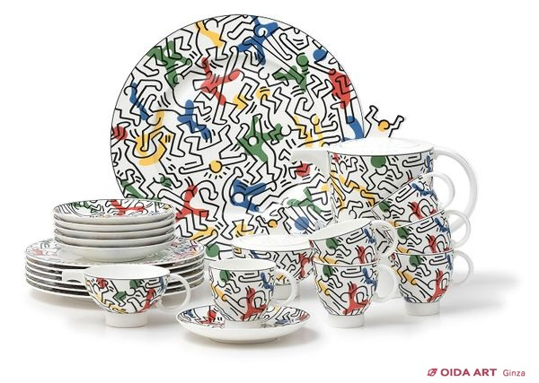 Keith Haring SPIRIT OF ART (the complete set of 16 pieces)