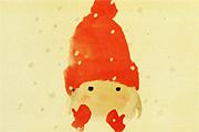 いわさきちひろ 赤い毛糸帽の少女