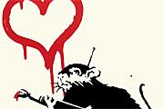 バンクシー Love Rat  バンクシー
