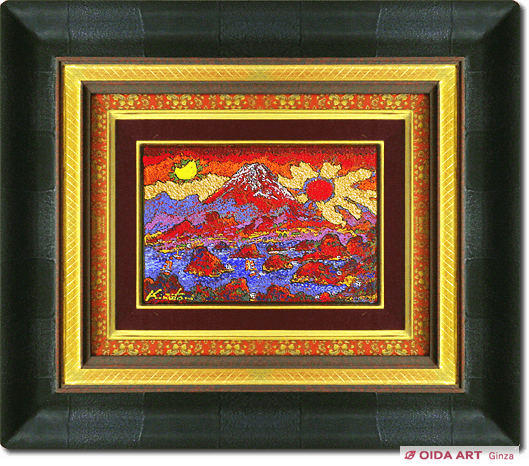 Kinutani Koji  Mt.Fuji in the sun and the moon