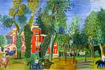 Dufy Raoul Paddock of the Deauville racetrack
