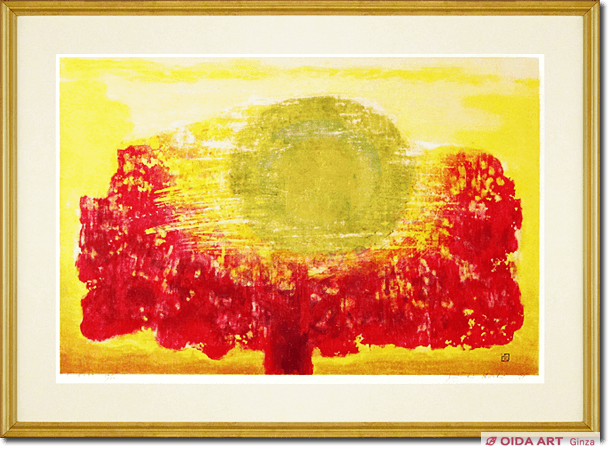 Hoshi Joichi The setting sun of a red tree