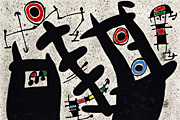 Miro Joan Lizard with a gold feather PL.4