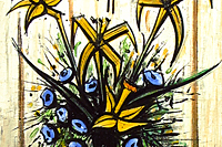 Buffet Bernard A yellow and blue bouquet