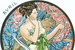 Mucha Maria Alphonse Art card  April
