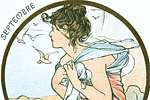 Mucha Maria Alphonse Art card  September