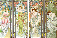 Mucha Maria Alphonse THE TIMES OF THE DAY 1899, PORTFOLIO