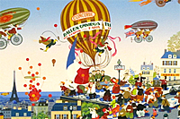 Yamagata Hiro Starting on a journey  – Balloon omnibus