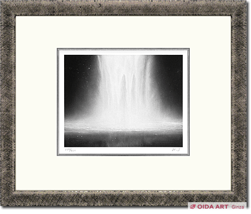Senju Hiroshi Water fall on lithograph