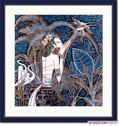 丁紹光「楽園 DX」 東京・銀座のおいだ美術です。現代アート・日本画・洋画・版画・彫刻など美術品の豊富な販売・買取実績ございます。