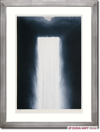 Senju Hiroshi Water fall on lithograph #2