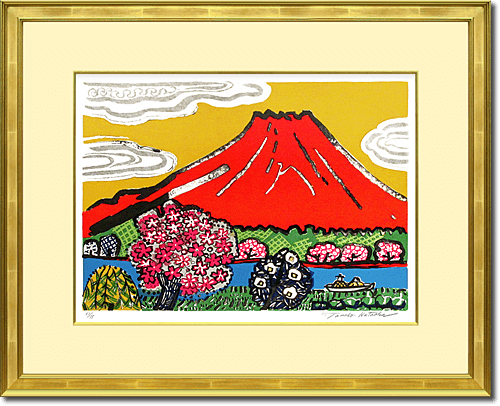 Kataoka Tamako Mt.Fuji where cherry tree blooms