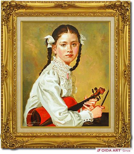 バイオリンの少女 | 絵画販売・絵画買取 東京・銀座 おいだ美術