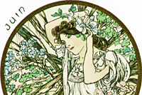 Mucha Maria Alphonse Art card  June
