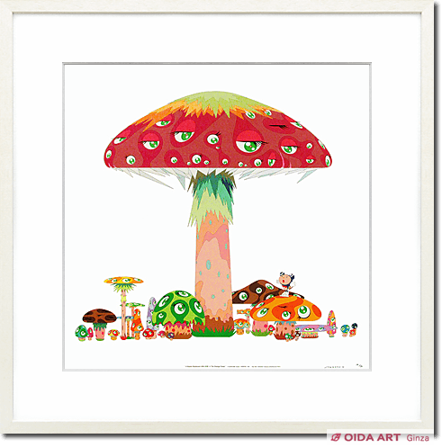 Murakami Takashi A master mushroom with dob in the strange forest