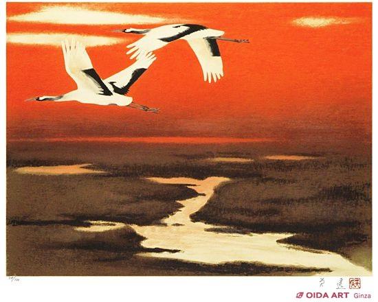 湿原に翔ぶ   絵画など美術品の販売と買取   東京・銀座 おいだ美術