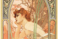Mucha Maria Alphonse Evening dream from The Flow of Time of Four