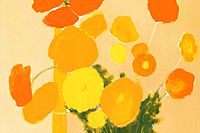 Cathelin Bernard Yellow and orange bouquet