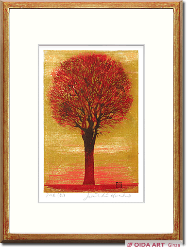 Hoshi Joichi Tree in evening (red)