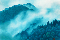 Higashiyama Kaii Cloud in the moutain (new reprint picture)