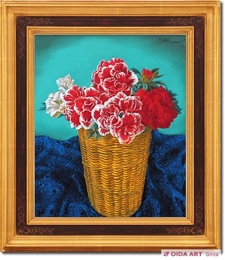 籠のアザレア | 絵画など美術品の販売と買取 | 東京・銀座 おいだ美術