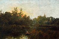 アルフレッド・ブリアンスキー テムズ川の釣り舟