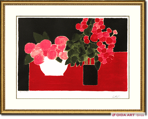 Cathelin Bernard Begonia and hydrangea