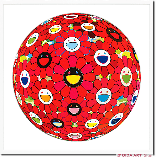Murakami Takashi Flower ball (3D) – Red Ball
