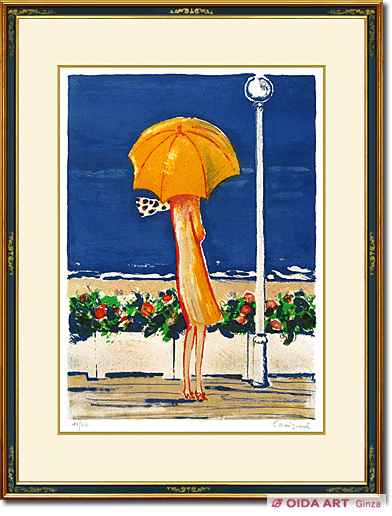 Jean Pierre Cassigneul Lady with a parasol