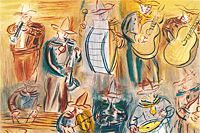 Raoul Dufy Mexican musicians from Angel's concert
