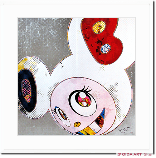 Murakami Takashi Dob in Pure White Robe (Navy&Vermillion)