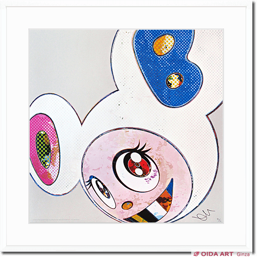 Murakami Takashi And Then×6 (White:The Superflat Method,Pink and Blue Ears)