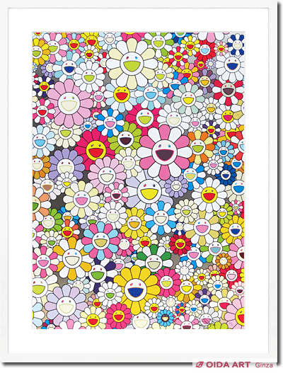Murakami Takashi An Homage to Yves Klein,Multicolor A,2012