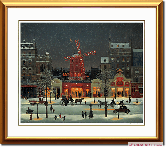 Michel Delacroix Moulin Rouge in snow
