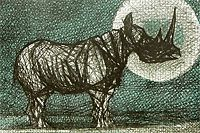 Kayama Matazo The moon and rhinoceros