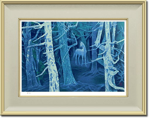 Higashiyama Kaii(new reprint) Forest with a White Horse (new reprint picture)