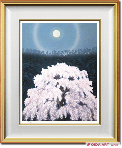 Higashiyama Kaii(new reprint) Luminous Cherry Blossoms (new wood block reprint)