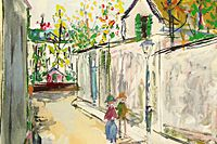 Utrillo Maurice  Road in village from inspiration village