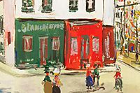 Utrillo Maurice Laundry in Bastille from inspiration village