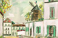 Utrillo Maurice  Motif of Montmartre from inspiration village