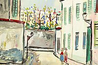 Utrillo Maurice  Alley in Montmartre from inspiration village