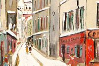 Utrillo Maurice Rue Saint Rustique from inspiration village