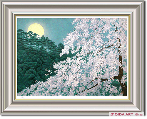 Higashiyama Kaii Cherry blossoms in the Evening (new reprint picture)