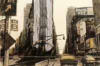 クリスト WRAPPED BUILDING /project for#1Times Square,Allied chemicalTower,New york city/1985