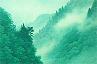 Higashiyama Kaii Mountain valley where cloud springs (new reprint picture)