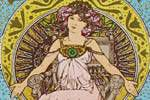 Mucha Maria Alphonse Art card dream