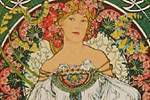 Mucha Maria Alphonse Art card Austria Hungarian mutual aid association