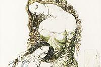 藤田嗣治 母と娘